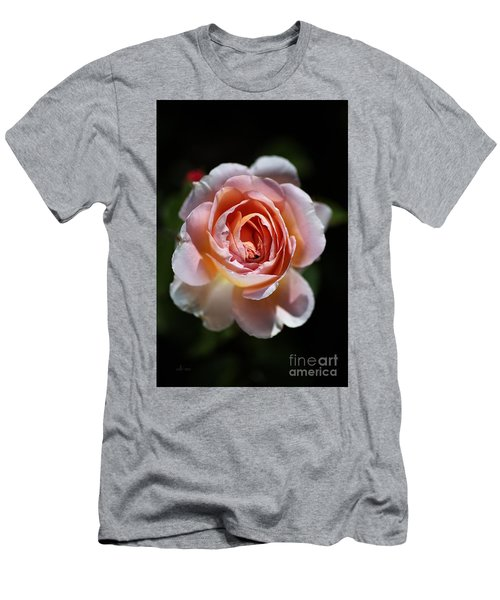 Single Romantic Rose  Men's T-Shirt (Athletic Fit)