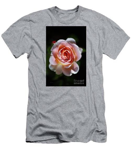 Single Romantic Rose  Men's T-Shirt (Athletic Fit)