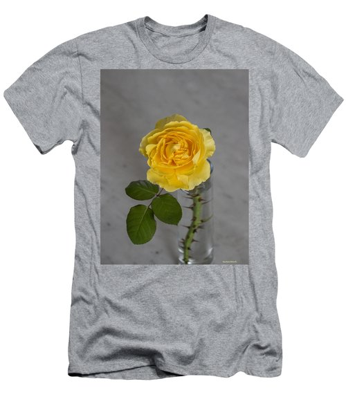 Single Yellow Rose With Thorns Men's T-Shirt (Athletic Fit)
