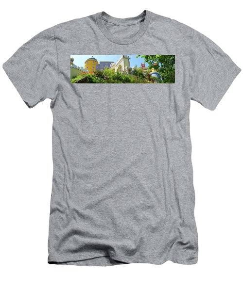 Men's T-Shirt (Slim Fit) featuring the photograph Sintra Castle by Patricia Schaefer