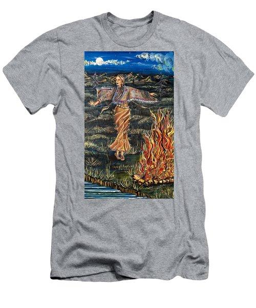 Sioux Woman Dancing Men's T-Shirt (Athletic Fit)