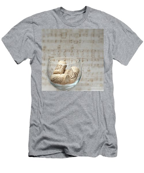 Sipping Wine While Listening To Music Men's T-Shirt (Slim Fit) by Sherry Hallemeier