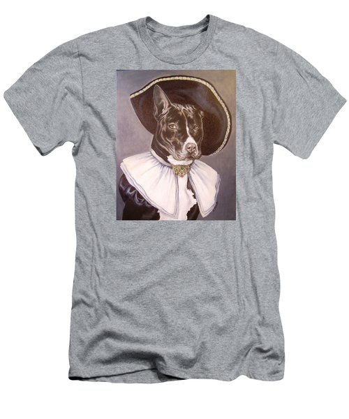 Sir Pibbles Men's T-Shirt (Slim Fit) by Laura Aceto