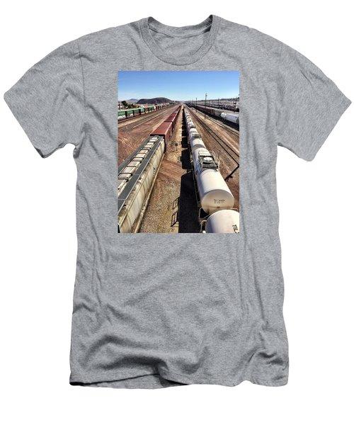 Six Trains Men's T-Shirt (Athletic Fit)
