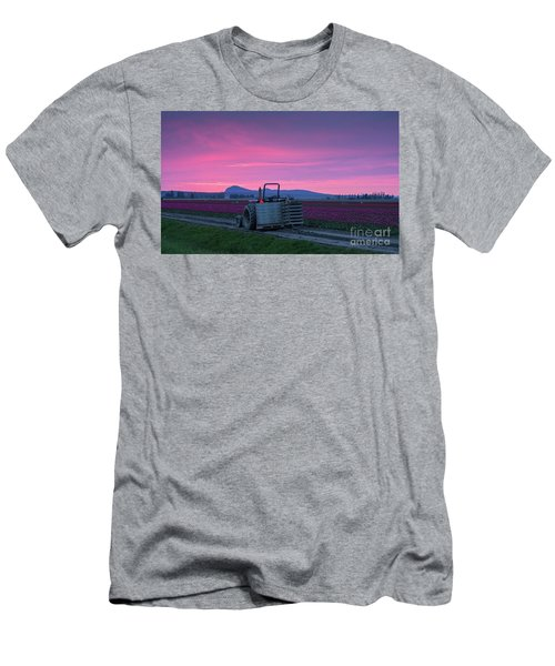 Men's T-Shirt (Slim Fit) featuring the photograph Skagit Valley Dusk Calm by Mike Reid