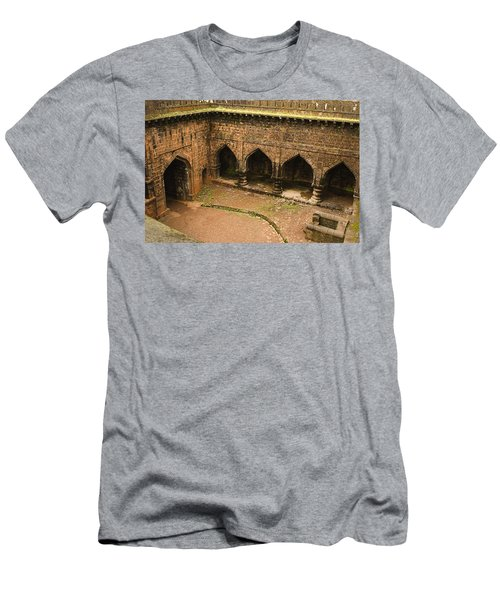 Skc 3278 The Ancient Courtyard Men's T-Shirt (Slim Fit) by Sunil Kapadia