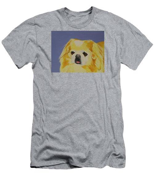 Skeeter The Peke Men's T-Shirt (Slim Fit) by Hilda and Jose Garrancho