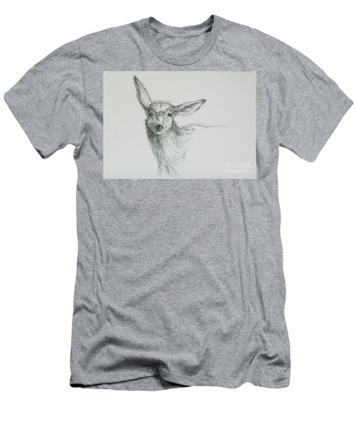Sketch Of A Mule Deer Doe Men's T-Shirt (Athletic Fit)