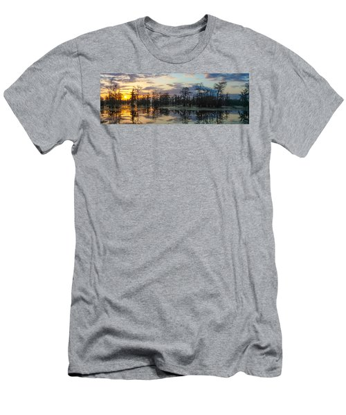Skies Across The North End Men's T-Shirt (Slim Fit) by Kimo Fernandez