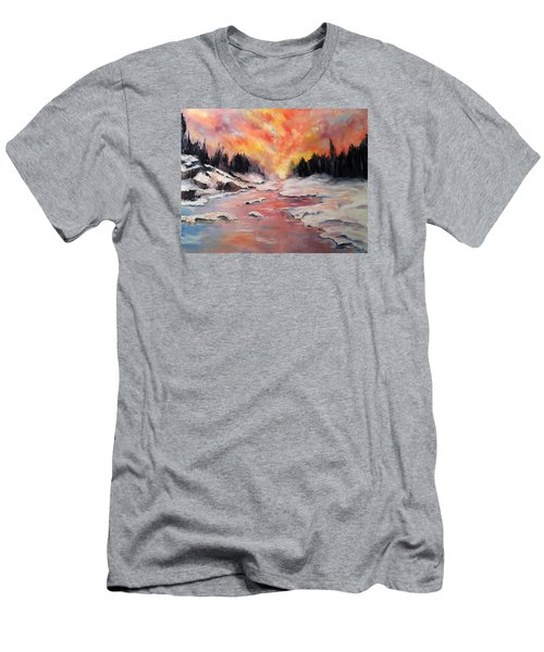 Skies Of Mercy Men's T-Shirt (Slim Fit) by Meaghan Troup