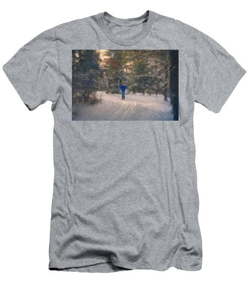 Skiing Borderland In Afternoon Light Men's T-Shirt (Athletic Fit)