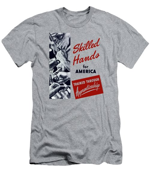 Skilled Hands For America Men's T-Shirt (Athletic Fit)