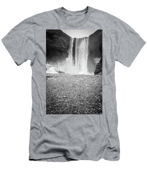 Skogafoss In Winter Men's T-Shirt (Athletic Fit)