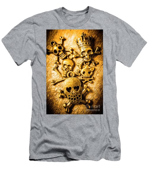 Skulls And Crossbones Men's T-Shirt (Athletic Fit)