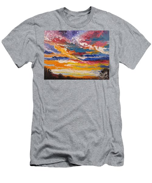 Men's T-Shirt (Slim Fit) featuring the painting Sky In The Morning by Sigrid Tune