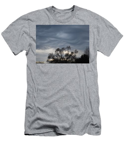 Men's T-Shirt (Slim Fit) featuring the photograph Sky Of Ribbons by Ramona Whiteaker