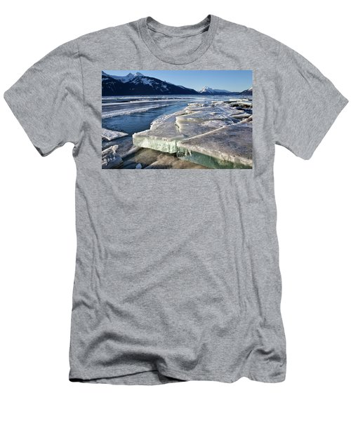 Men's T-Shirt (Slim Fit) featuring the photograph Slabs Of Ice by Michele Cornelius