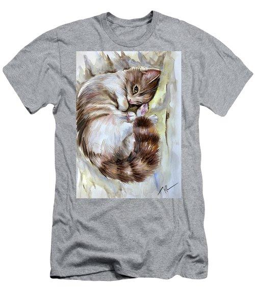 Sleepy Cat 2 Men's T-Shirt (Athletic Fit)
