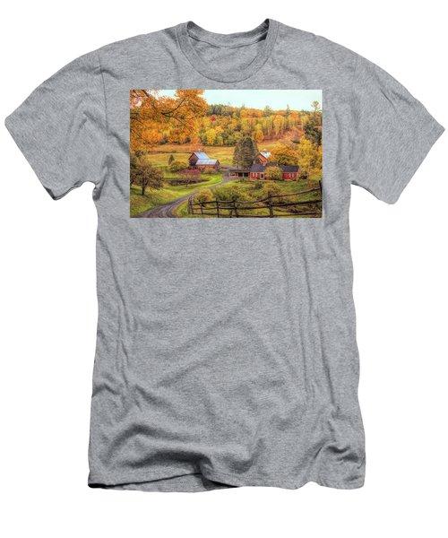Sleepy Hollow - Pomfret Vermont In Autumn Men's T-Shirt (Athletic Fit)