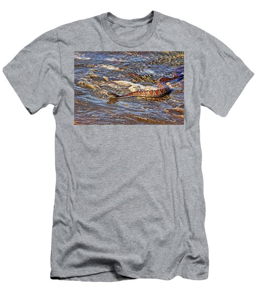 Slithering Along The Shore Men's T-Shirt (Athletic Fit)