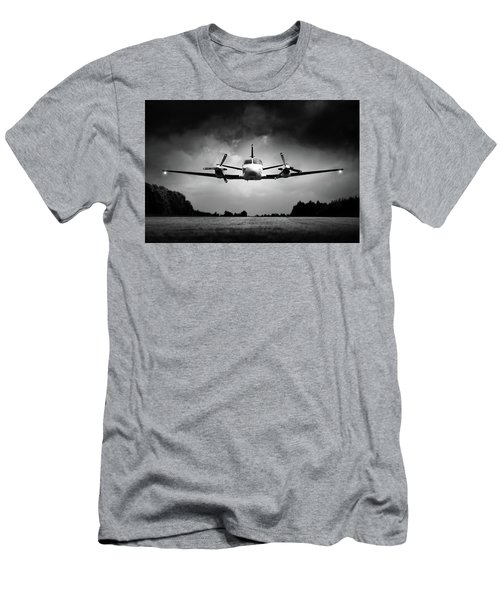 Small Airplane Low Flyby Men's T-Shirt (Athletic Fit)