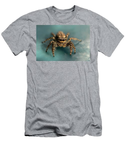 Men's T-Shirt (Athletic Fit) featuring the photograph Small Jumping Spider by Jaroslaw Blaminsky