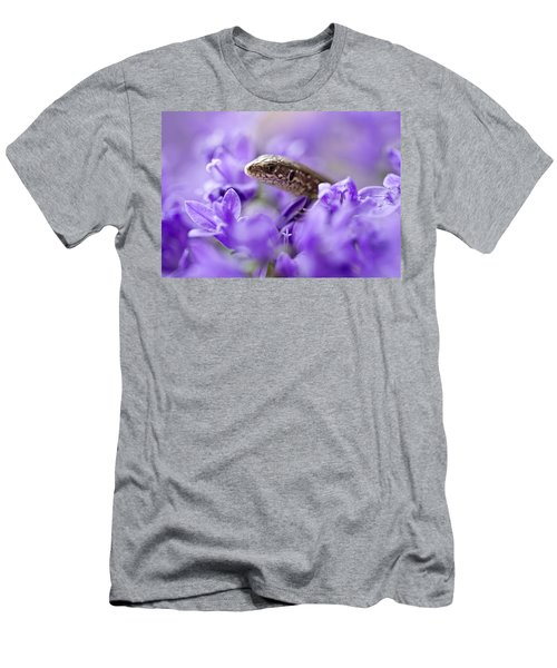 Men's T-Shirt (Athletic Fit) featuring the photograph Small Lizard by Jaroslaw Blaminsky