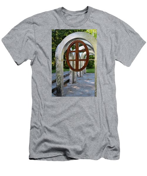 Men's T-Shirt (Slim Fit) featuring the photograph Small Park With Arches by Michiale Schneider
