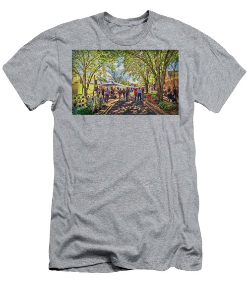 Men's T-Shirt (Athletic Fit) featuring the photograph Small Town Festival by Lewis Mann