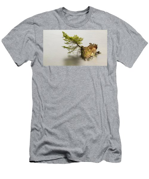 Small Tree On A Stump Men's T-Shirt (Athletic Fit)