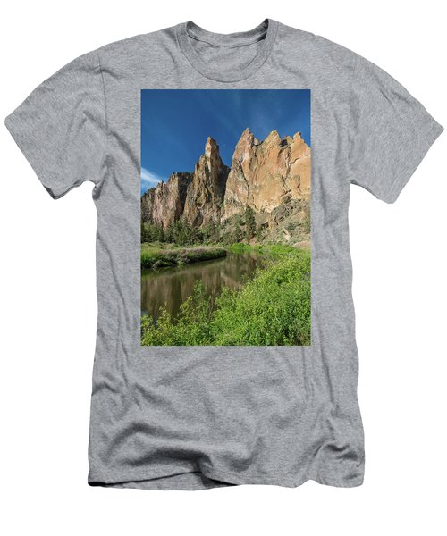 Smith Rock Spires Men's T-Shirt (Slim Fit) by Greg Nyquist
