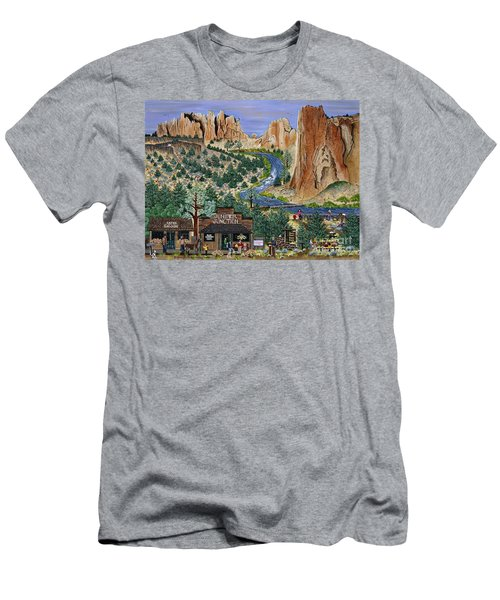 Smith Rock State Park Men's T-Shirt (Athletic Fit)