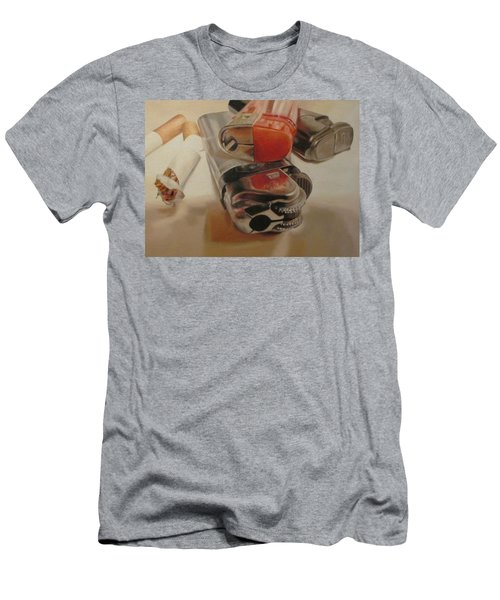 Men's T-Shirt (Slim Fit) featuring the painting Smoke Break by Cherise Foster
