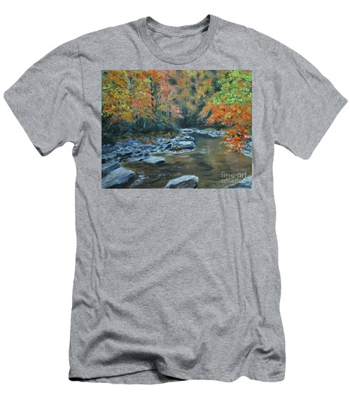 Smokey Mountain Autumn Men's T-Shirt (Slim Fit) by Stanton Allaben