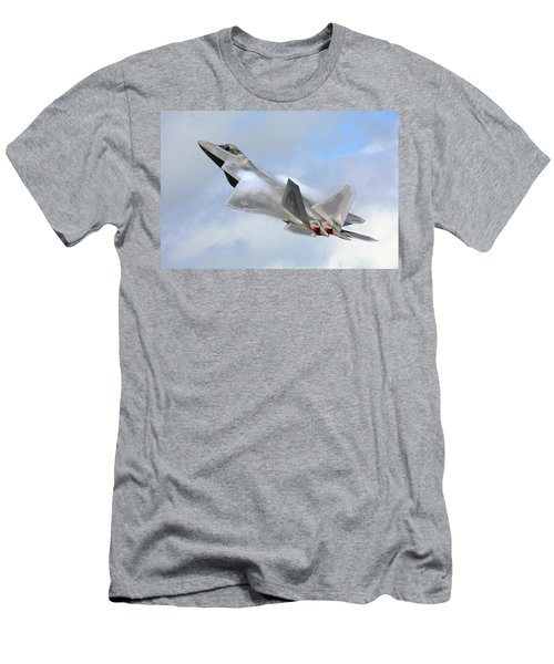 Men's T-Shirt (Slim Fit) featuring the digital art Smokin - F22 Raptor On The Go by Pat Speirs