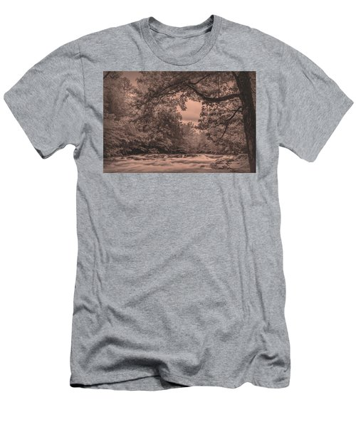 Smoky Mountain Stream Men's T-Shirt (Athletic Fit)