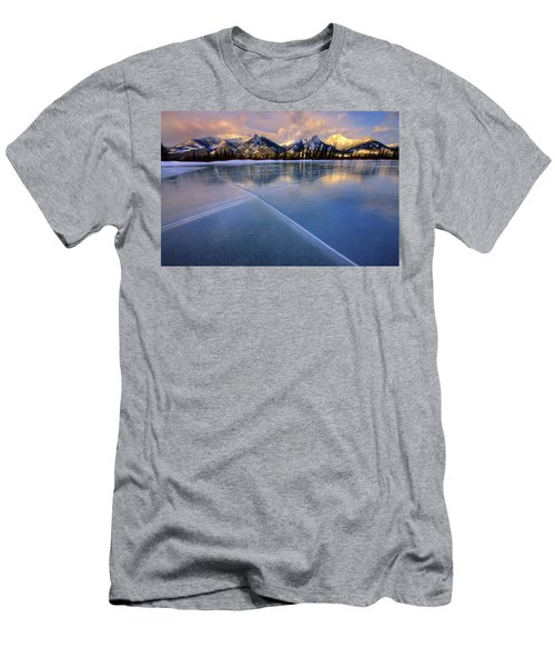 Men's T-Shirt (Slim Fit) featuring the photograph Smooth Ice by Dan Jurak