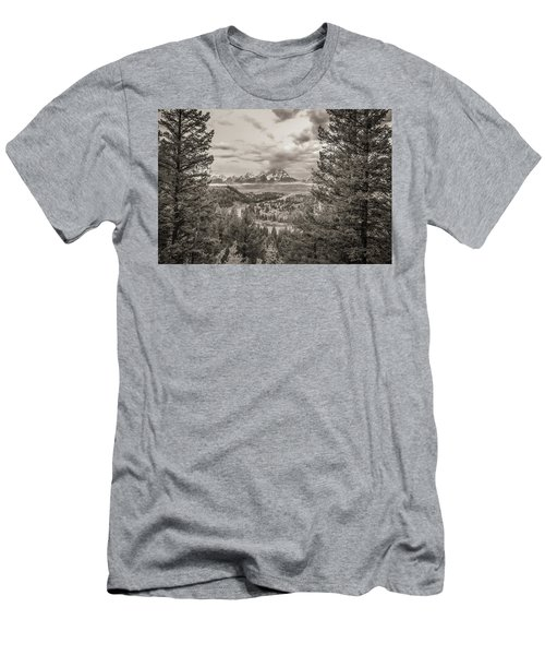 Snake River Overlook Grand Teton Monochromatic Men's T-Shirt (Athletic Fit)