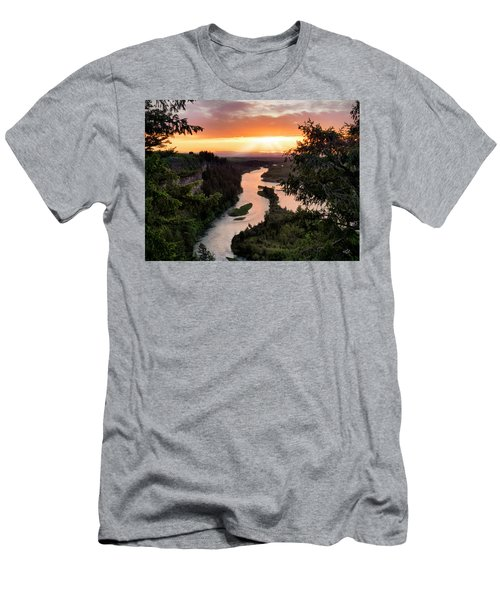 Snake River Sunset Men's T-Shirt (Athletic Fit)