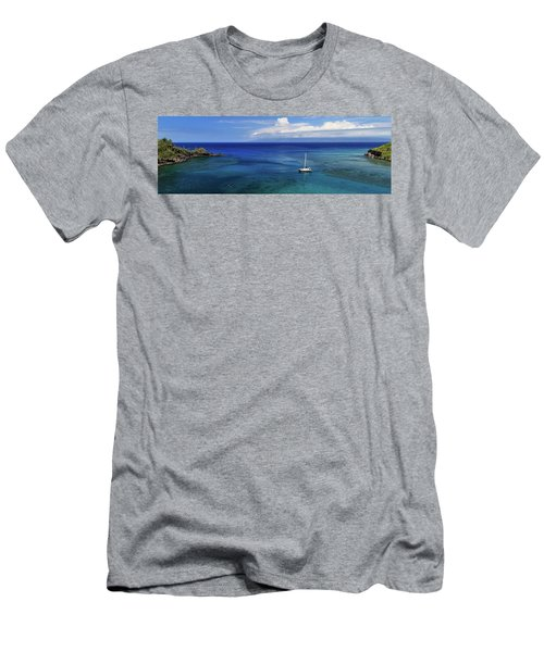 Snorkeling In Maui Men's T-Shirt (Slim Fit) by James Eddy