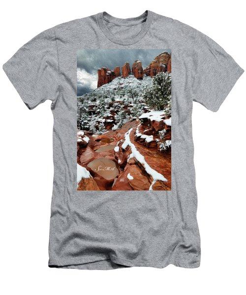 Snow 06-068 Men's T-Shirt (Slim Fit) by Scott McAllister
