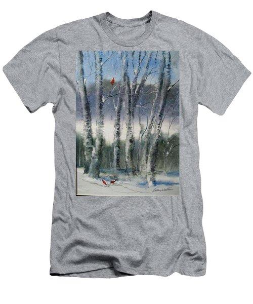Snow Birch  Men's T-Shirt (Athletic Fit)