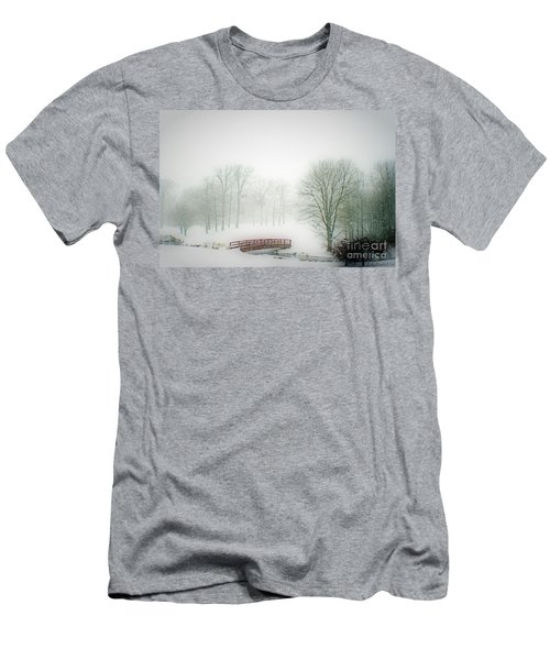Men's T-Shirt (Slim Fit) featuring the photograph Snow Bridge by Polly Peacock