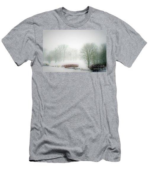 Snow Bridge Men's T-Shirt (Slim Fit) by Polly Peacock