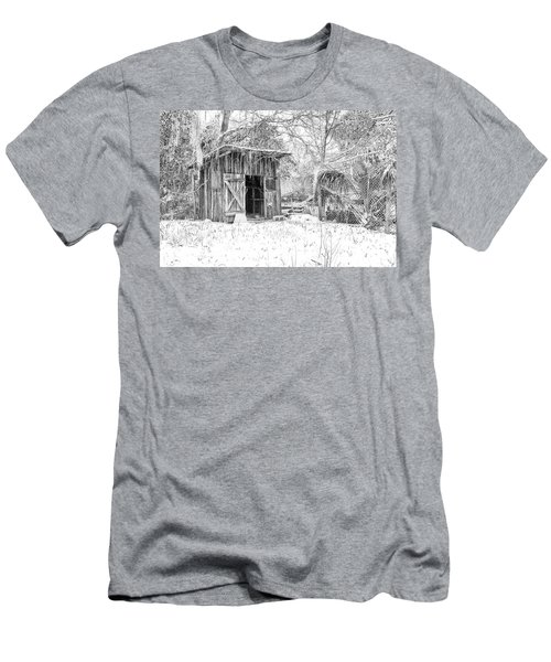 Snow Covered Chicken House Men's T-Shirt (Athletic Fit)