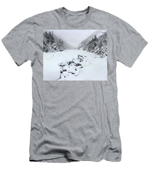 Snow Covered Lake Men's T-Shirt (Athletic Fit)