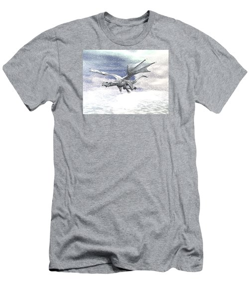 Snow Dragon Men's T-Shirt (Slim Fit) by Michele Wilson