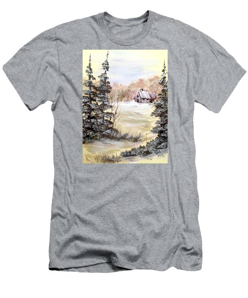 Snow Everywhere Men's T-Shirt (Slim Fit) by Dorothy Maier
