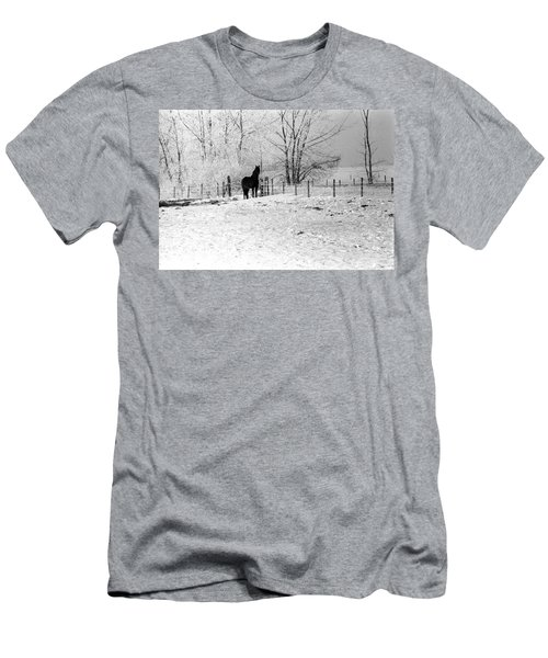 Snow Horse Men's T-Shirt (Athletic Fit)