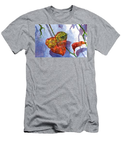Men's T-Shirt (Athletic Fit) featuring the painting Snow Leaf by Andrew King